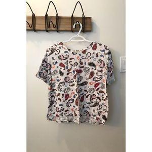Zara Paisley Crop Top
